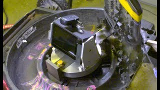 High-speed camera mounted on a spinning lawnmower blade