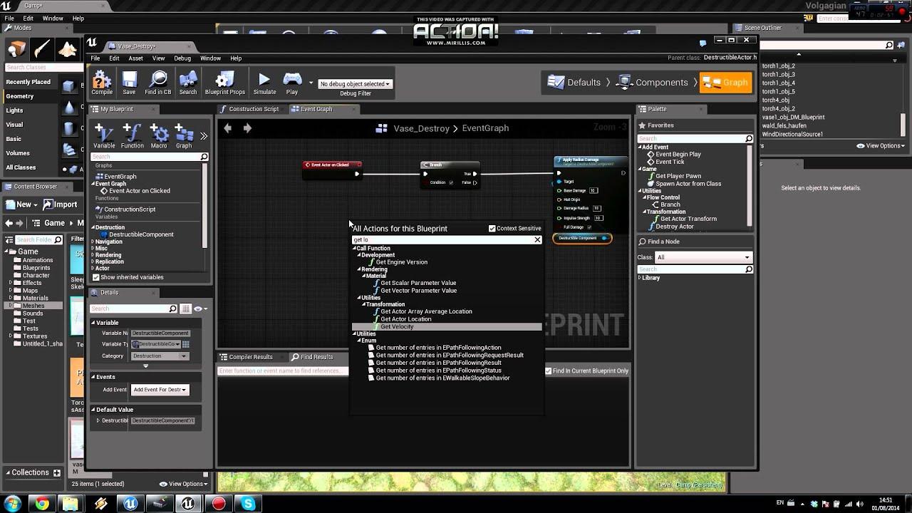 Ue4 tutorial destructiblemesh on click english youtube malvernweather Image collections
