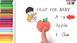 Fruit For Baby #1 ✅Kids Learn Letters and Numbers ✅How To Teach Baby To Speak English