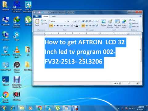 How to get AFTRON  LCD 32 Inch led tv program 002 FV32 2513  25L3206