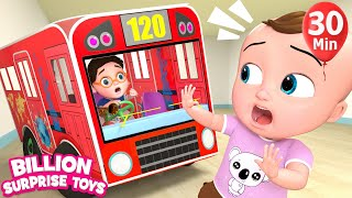 Johnny's Bus Go Round And Round | +More Nursery Rhymes & Kids Songs | Learn with BST