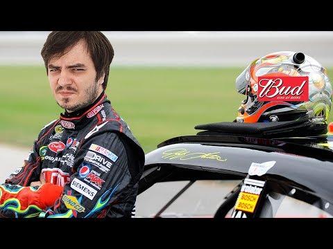 Мэддисон пьет Bud и поворачивает налево в iRacing NASCAR