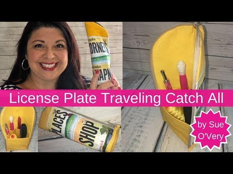 Row by Row - License Plate - Traveling Zipper Catch All - Easy Sewing Project