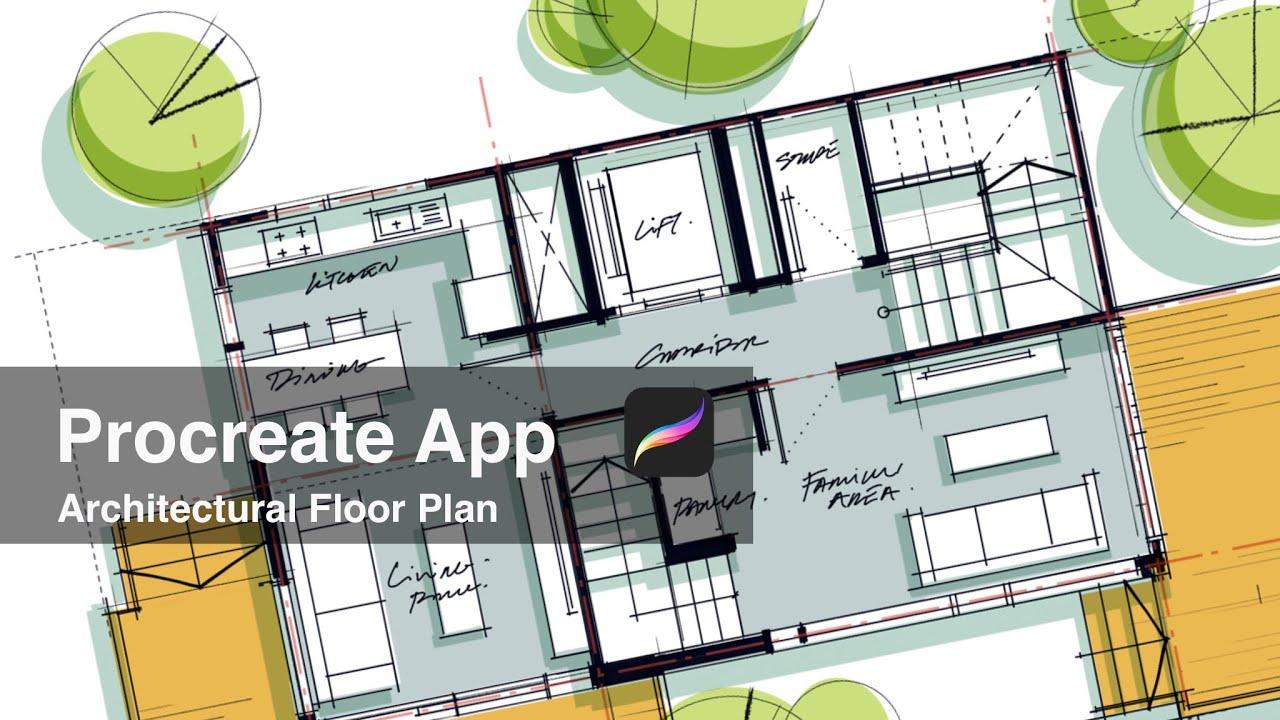 Procreate App Architectural Floor Plan Youtube
