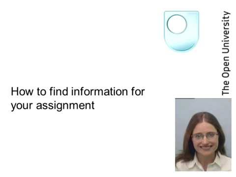 How to find information for your assignment