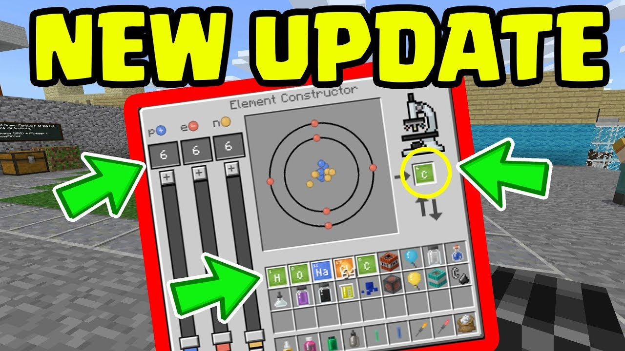 NEW Minecraft UPDATE with ALL NEW Chemistry FEATURES