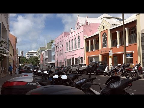 USA & Caribbean cruise - Bermuda capital city Hamilton - waterfront and downtown