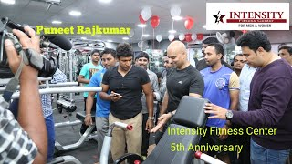 Power Star Puneet Rajkumar at Intensity Fitness Center Malleshwaram