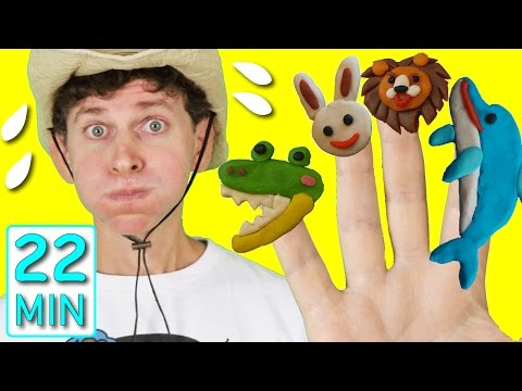 Animal Finger Family Song and More Kids Songs with Matt! | Finger Family Collection