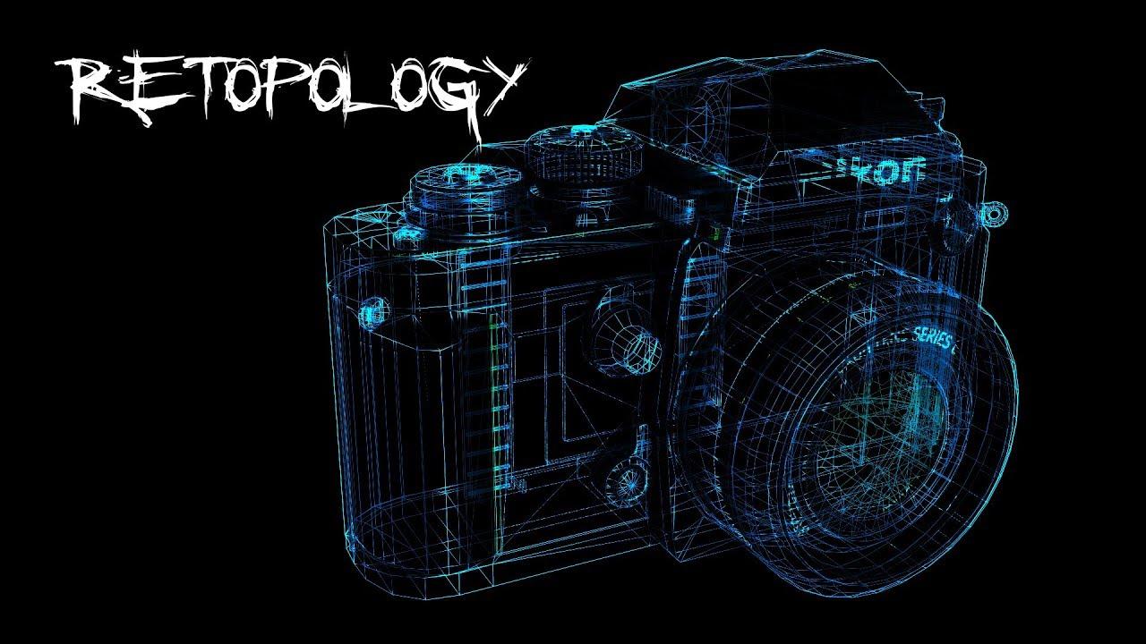 Nikon F3 Blender Retopology. Time-lapse