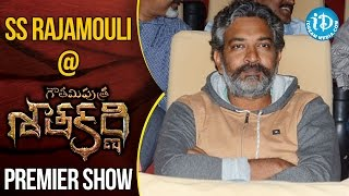 SS Rajamouli At Gautamiputra Satakarni Premiere Show || #Balakrisha || #Krish