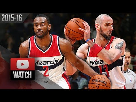 John Wall & Marcin Gortat Full Highlights vs Kings (2015.12.21) - 39 Pts, 19 Ast for Wall!