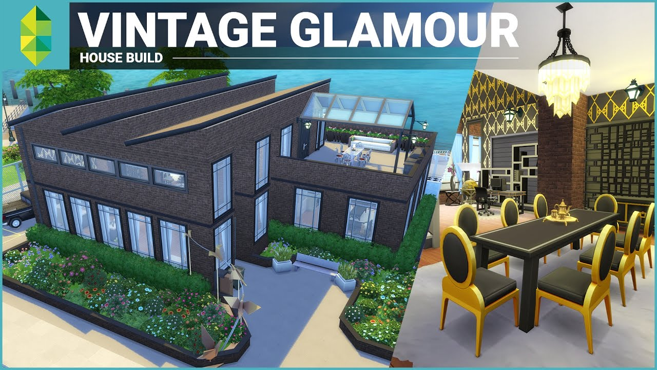 The Sims 4 House Building Vintage Glamour Stuff Factory
