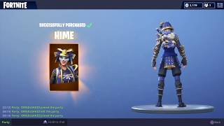 Fortnite *NEW* SAMURAI Skins! - Item Shop (24/08/2018)