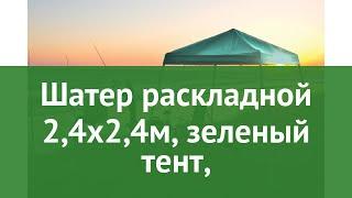 Шатер раскладной 2,4х2,4м, зеленый тент, (Shelterlogic) обзор 22972