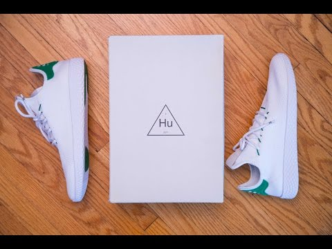 Adidas Tennis Hu Primeknit by Pharrell Williams 'Green/OG Stan Smith' Review and On Feet