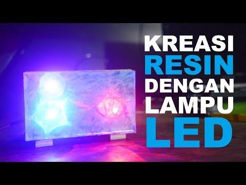 DIY. Kreasi Resin dengan Lampu LED  | Resin Art | Easy Project  for Begginers