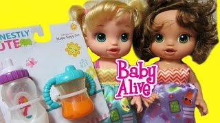 BABY ALIVE Ready for School Doll Unboxing + HONESTLY CUTE Magic Sippy Set Unboxing