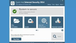 Working with Quick Heal Internet Security