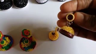 Handmade Jewelry - Small & Big Beehive Quilling Paper Jhumka  (Not Tutorial)