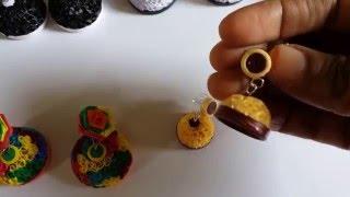 Handmade Jewelry - Small & Big Beehive Quilling Paper Jhumka  (Not Tutorial)