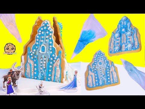 Disney Frozen Queen Elsa Cookie Ice Castle House - Food Craft Kit  Video
