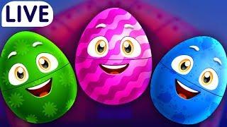 ChuChuTV Surprise Eggs Old MacDonald Had A Farm - Farm Animals Wild Animals amp More for Kids - LIVE