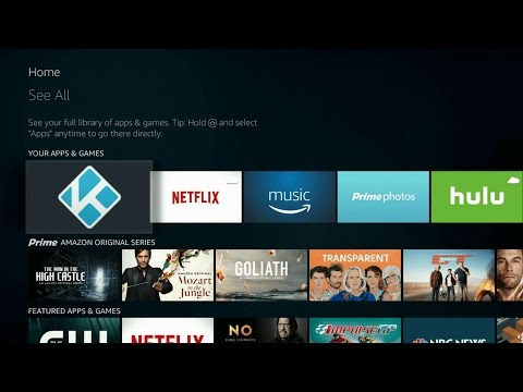 How to Open Kodi on Amazon Fire TV Device - Fire OS 5.2.4.0