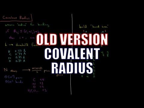 Computational Chemistry - Covalent Radius (Old Version)