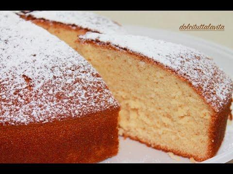 Ciambellone Senza Grassi.Torta Soffice Al Latte Ricetta Facile Senza Burro E Senza Olio Milk Cake Without Butter And Oil