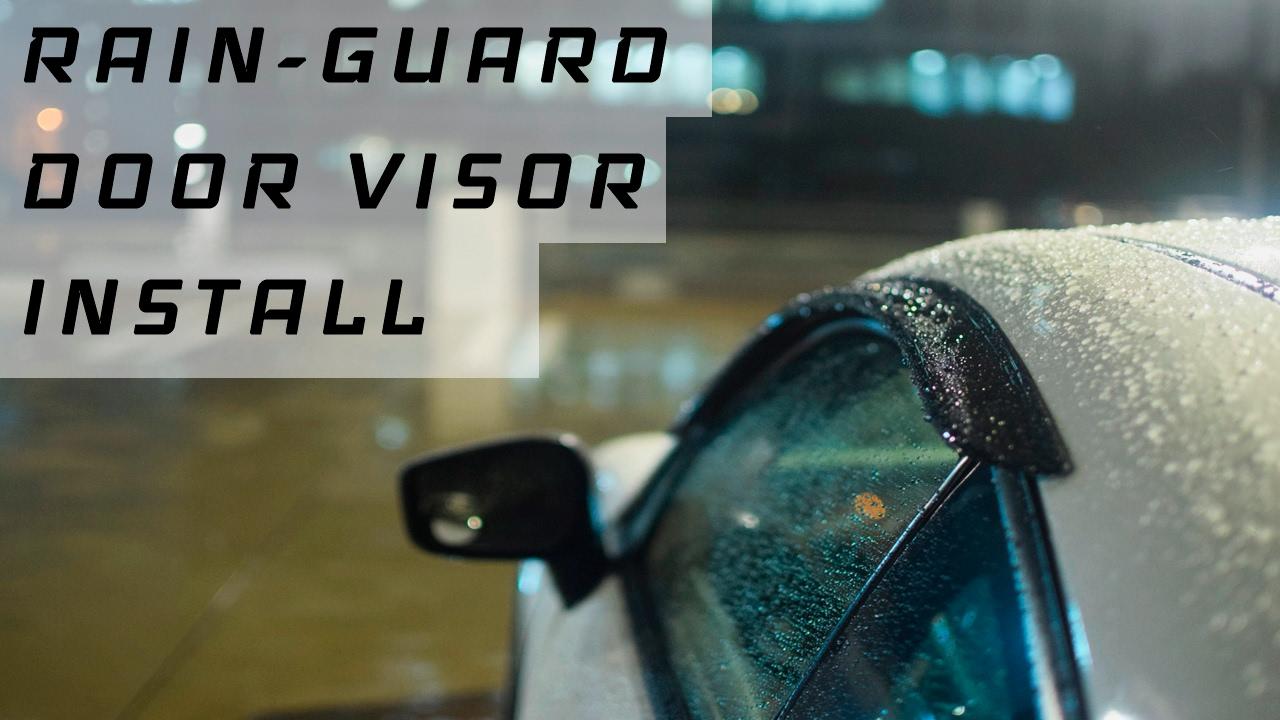 FRS/BRZ How To: Rain Guards/Door Visors Install