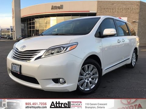 2017 Toyota Sienna Xle Limited Package Brampton On Attrell