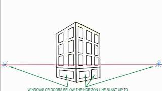 How to draw a City Block using 2-point perspective.wmv