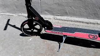 видео Двухколесный самокат с надувными колесами купить недорого