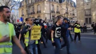Acte 15 très sécurisé des Gilets Jaunes, légers débordements - Paris 23.02.2019