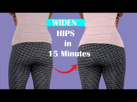 REMOVE  HIP DIPs: 15 Minutes WIDER HIPS WORKOUT for BIGGER & LARGE HIPs| HIP DIP FIX (NO EQUIPMENT)