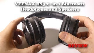 VEENAX HS3 2-in-1 Bluetooth Headphones and Speakers Review