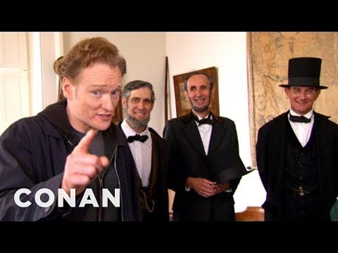 Conan Visits Abraham Lincoln Presidential Museum  CONAN on TBS