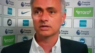 Jose Mourinho Admits His Side Made Mistakes Against Brighton.
