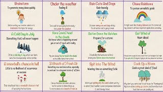 Weather Idioms and Sayings! Useful Idioms and Expressions about the Weather in English with Examples