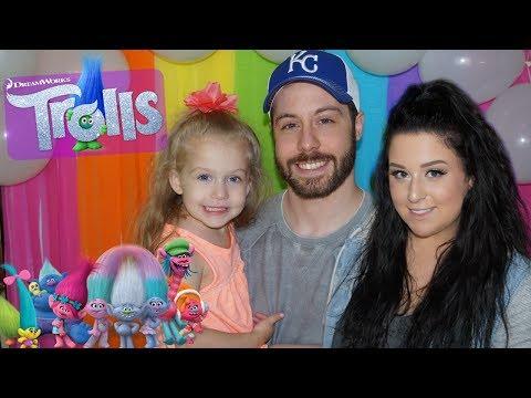 DIY TROLLS BIRTHDAY PARTY | Lacey's 3rd Birthday Celebration + Trolls Birthday Party Ideas!!