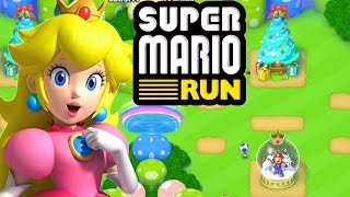 Super Mario Run | Exclusive Rare Princess Peach Character Unlocked Gameplay! | Christmas Update!