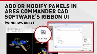 Add Or Modify Panels In Ares Commander Cad Software's Ribbon Ui (windows Only)