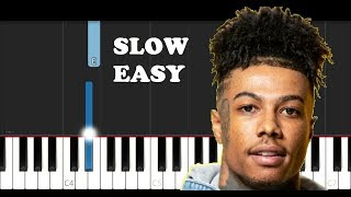Blueface - Thotiana Remix ft YG (SLOW EASY PIANO TUTORIAL)