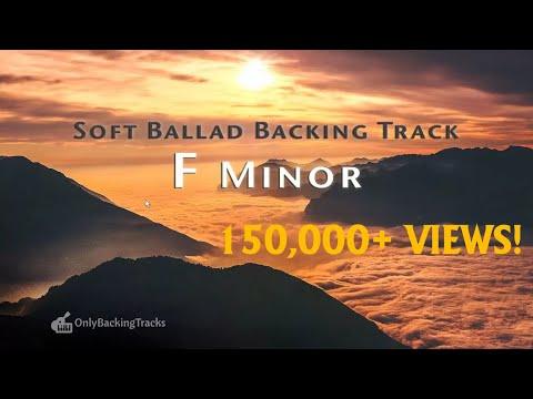 Emotional Soft Ballad Guitar Backing Track (F Minor)