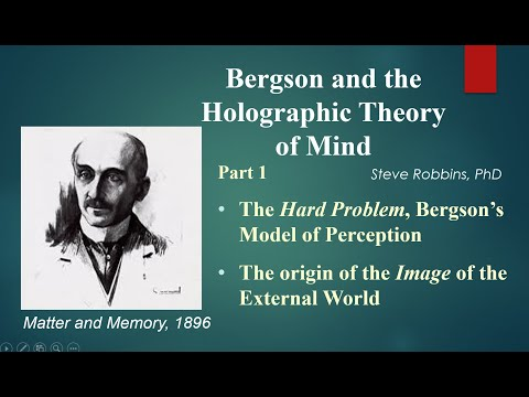 Bergson's Holographic Theory - 1 - The image of the external world