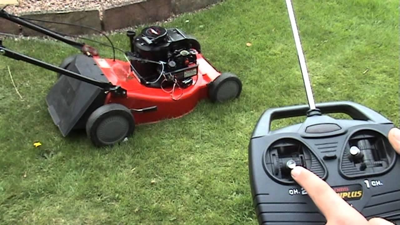 RC Lawn mower - YouTube