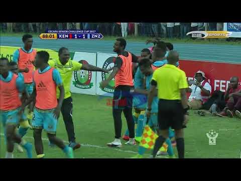 Azam TV - CECAFA2017: Bao la kwanza la Zanziba dakika ya 87 (Kenya vs Zanzibar)