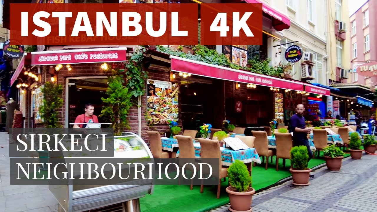 Istanbul Sirkeci Neighborhood Walking Tour  15 October 2021 4k UHD 60fps