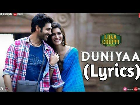 DUNIYA LYRICS – Luka Chuppi | Akhil | Dhvani Bhanushali